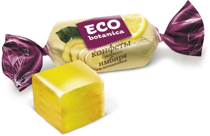 Рот-Фронт Eco-botanica конфеты желейные с экстрактом имбиря и витаминами, 200 г бискотти постное с льняной семечкой печенье 80 г