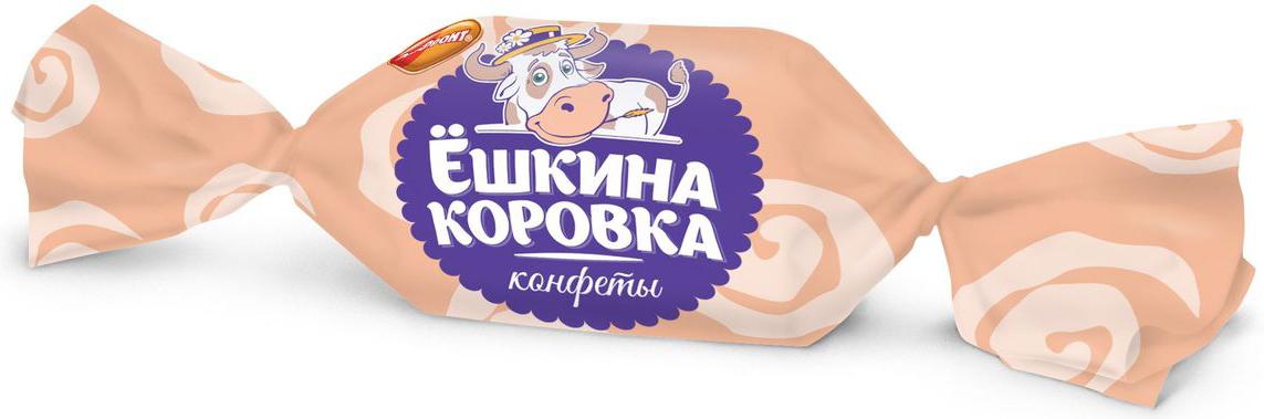 Рот-Фронт Ёшкина коровка конфеты молочные, 250 г конфеты jelly belly 100g