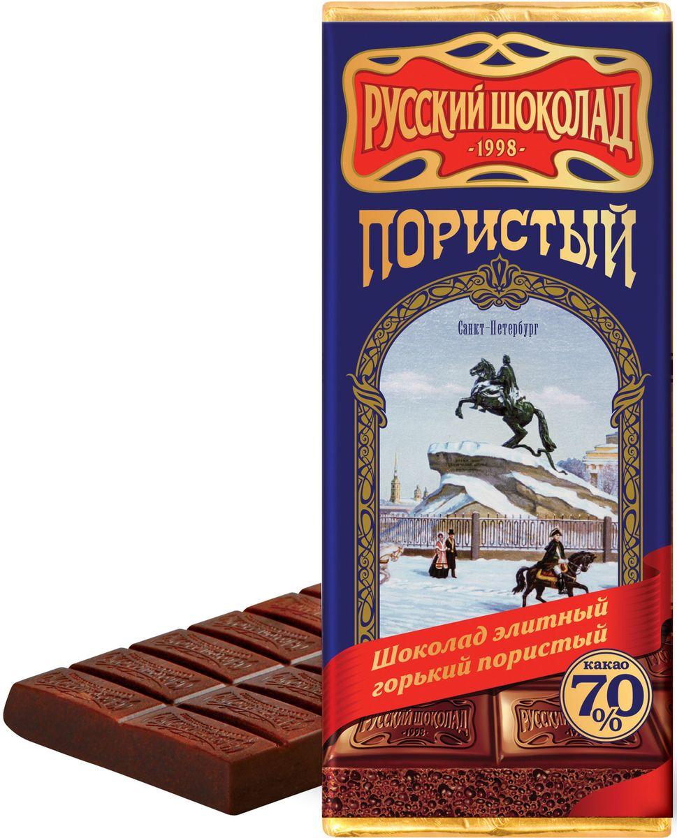 Русский шоколад Элитный горький пористый шоколад, 90 г гейнер шоколад xxi power 1 кг