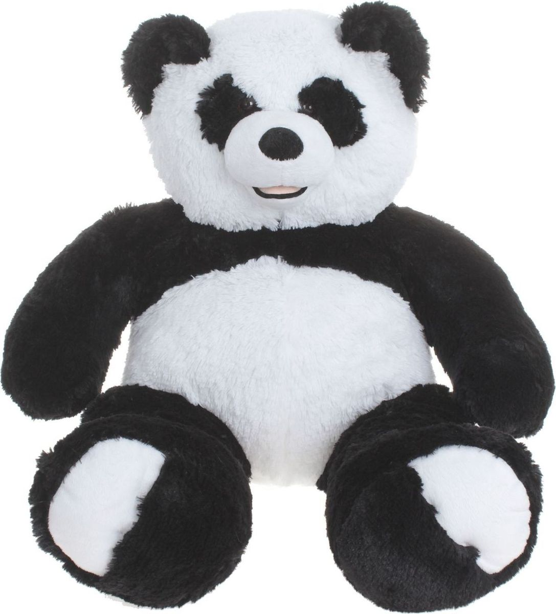 Три мишки Мягкая игрушка Мишка Патрик-Панда цвет черный белый 60 см, Мягкие игрушки  - купить со скидкой