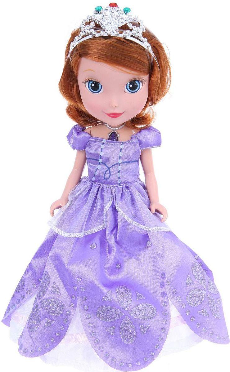 Карапуз Кукла Принцесса София со светящимся амулетом карапуз кукла золушка со светящимся амулетом 37 см со звуком принцессы дисней карапуз