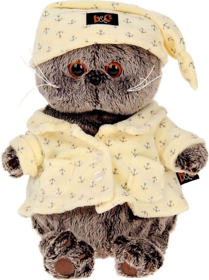 Басик и Ко Мягкая игрушка Басик в пижаме 22 см пальто басик