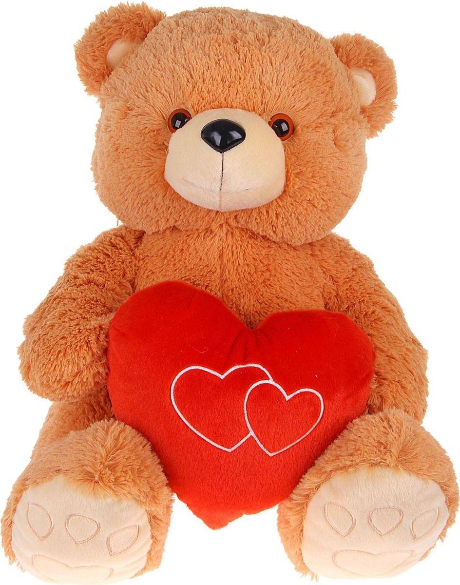 Sima-land Мягкая игрушка Медведь Эдди с сердцем 50 см