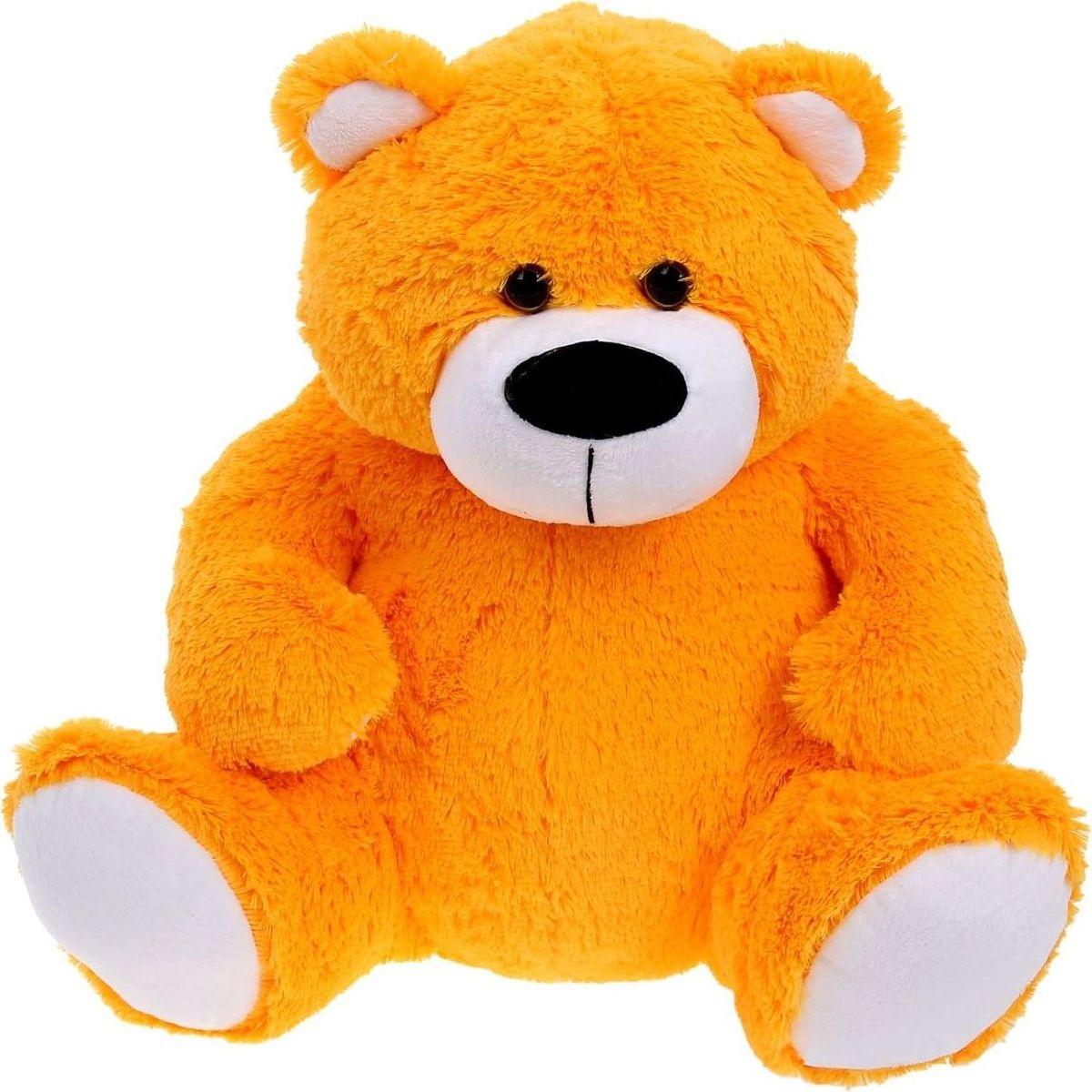 Sima-land Мягкая игрушка Мишка Фома цвет оранжевый 55 см малышарики мягкая игрушка собака бассет хаунд 23 см