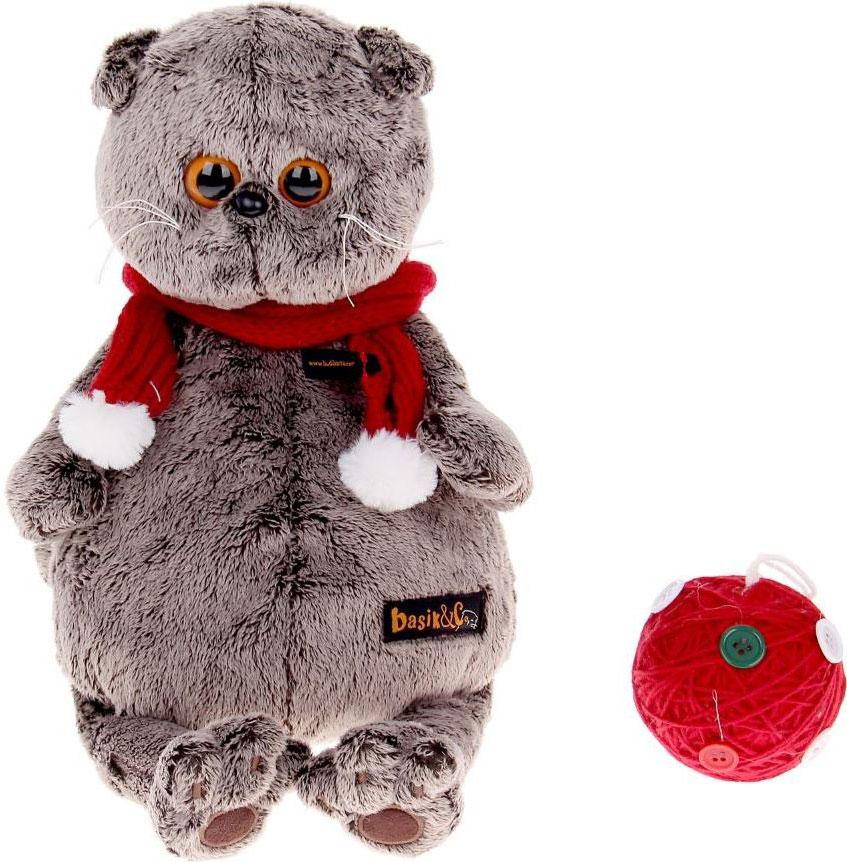 Басик и Ко Мягкая игрушка Басик с клубком 30 см basik & ко мягкая игрушка басик в дафлкоте 22 см