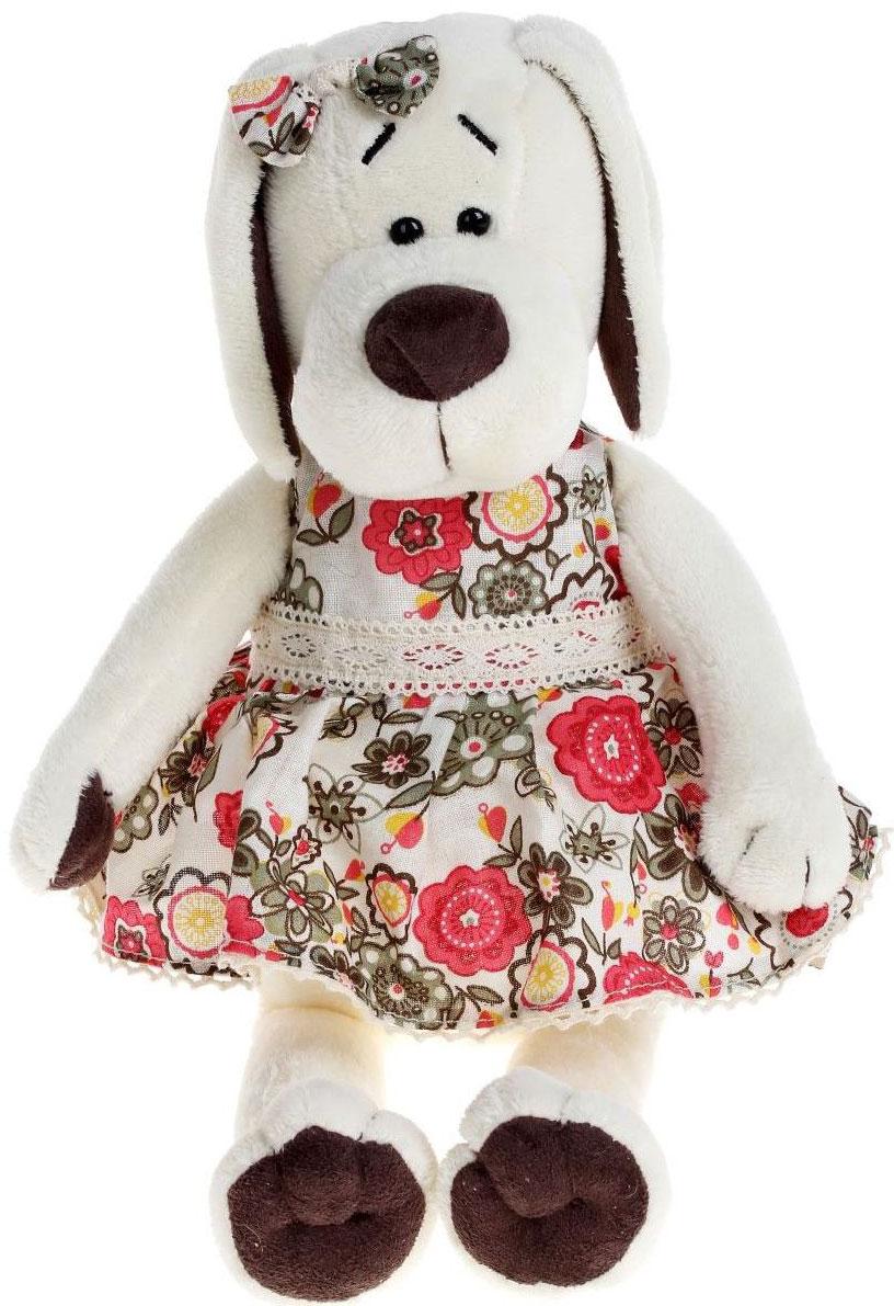 Orange Toys Мягкая игрушка Собачка Лапуська в летнем платье 20 см малышарики мягкая игрушка собачка 25 см