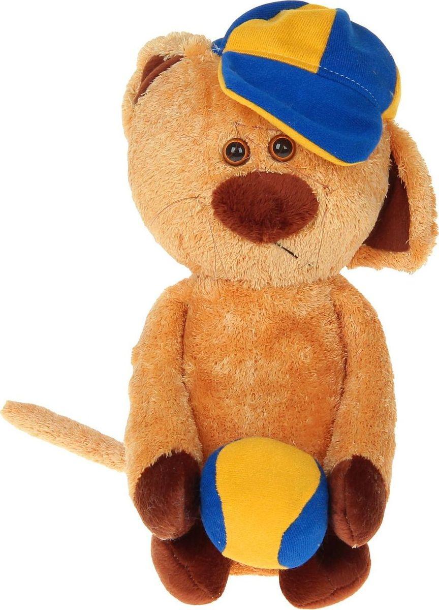 Sima-land Мягкая игрушка Котик в кепке 28 см малышарики мягкая игрушка собака бассет хаунд 23 см