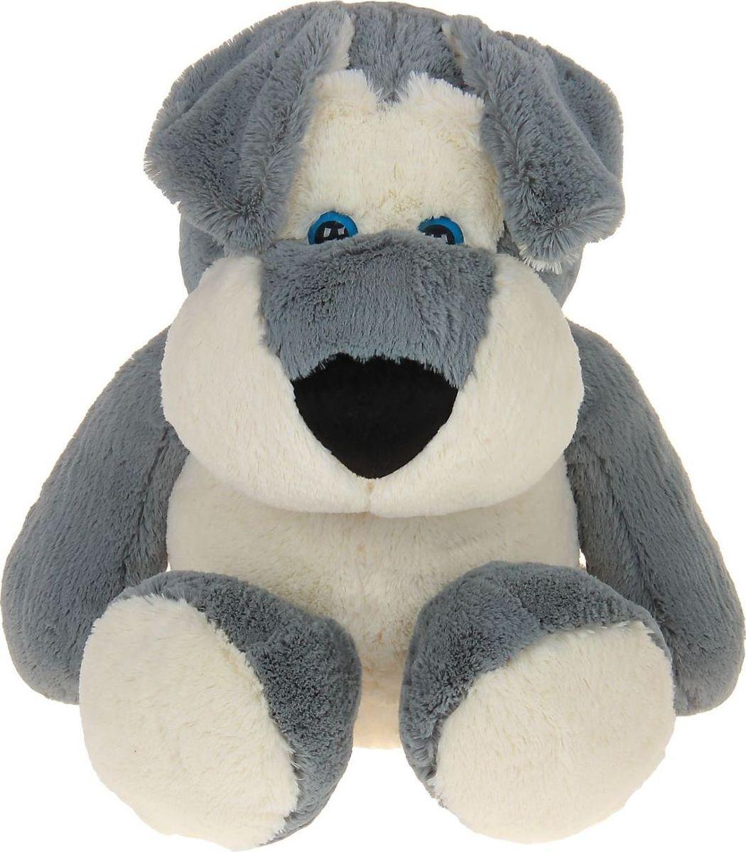 Sima-land Мягкая игрушка Собака Спайк Premium Quality цвет дымчатый 55 см малышарики мягкая игрушка собака бассет хаунд 23 см