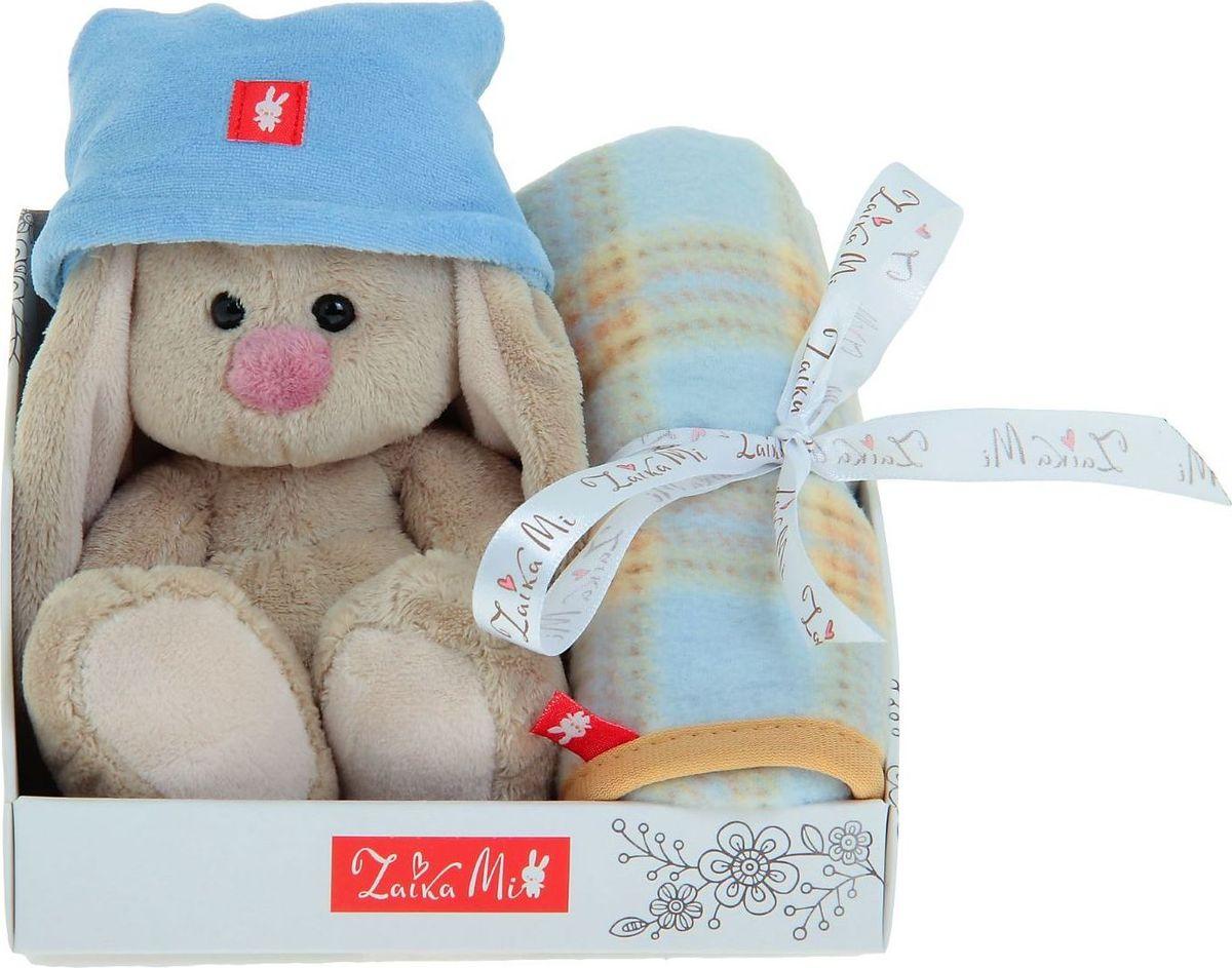 Зайка Ми Мягкая игрушка Зайка Ми в колпачке с пледиком 15 см, Мягкие игрушки  - купить со скидкой