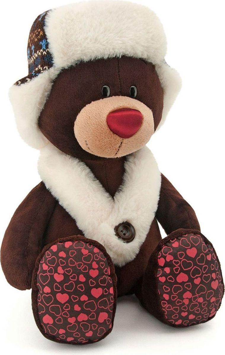 Orange Toys Мягкая игрушка Choco сидячий в ушанке 30 см teddy мягкая игрушка собака в белой ушанке 20 см