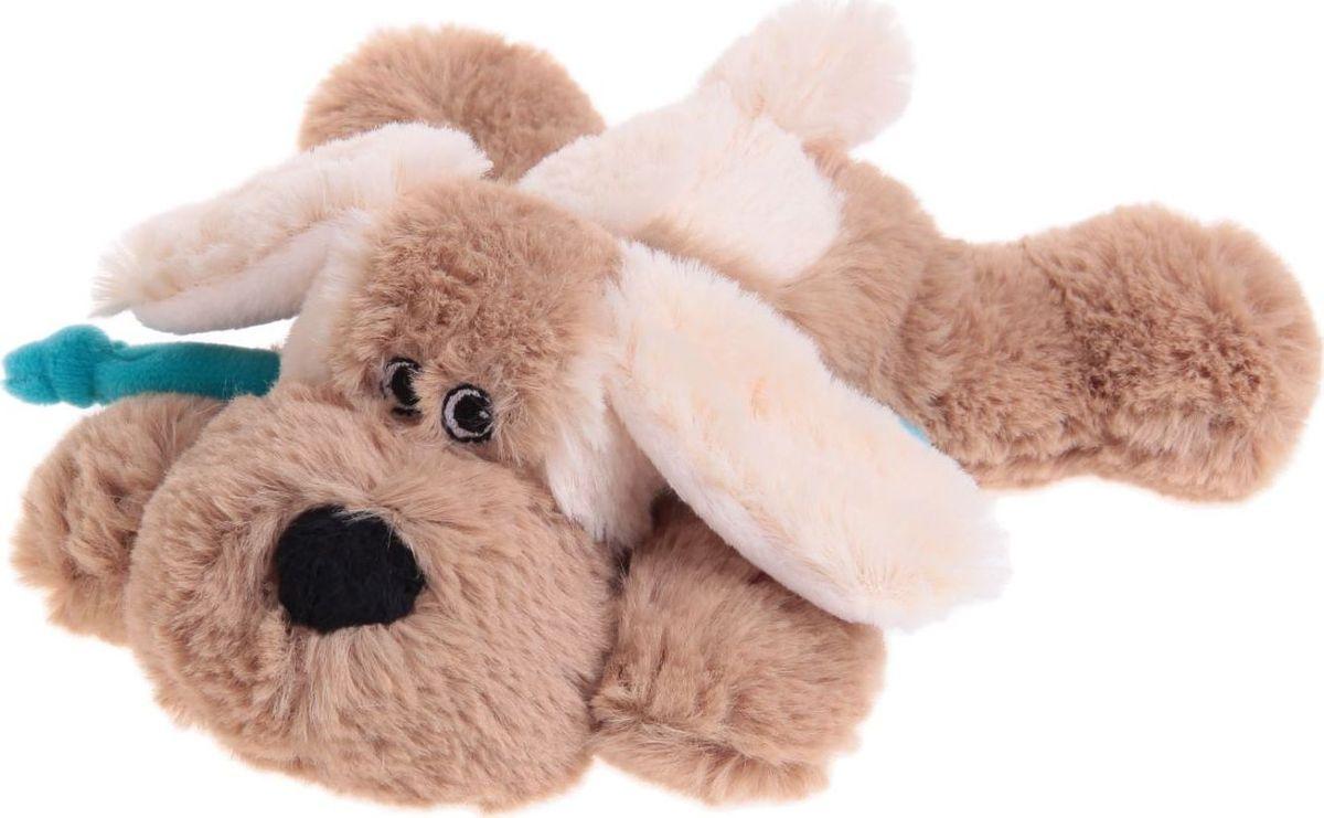 Sima-land Мягкая игрушка Собака цвет светло-коричневый бежевый 15 см малышарики мягкая игрушка собака бассет хаунд 23 см