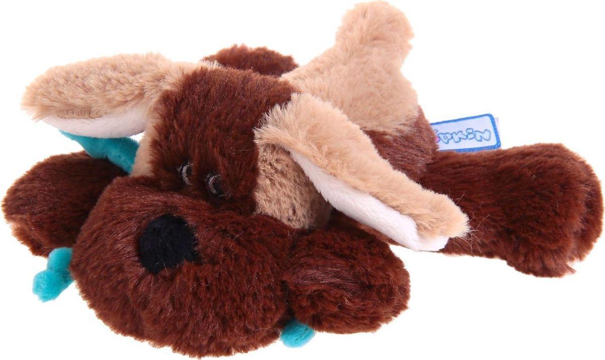 Sima-land Мягкая игрушка Собака цвет коричневый светло-коричневый 15 см малышарики мягкая игрушка собака бассет хаунд 23 см