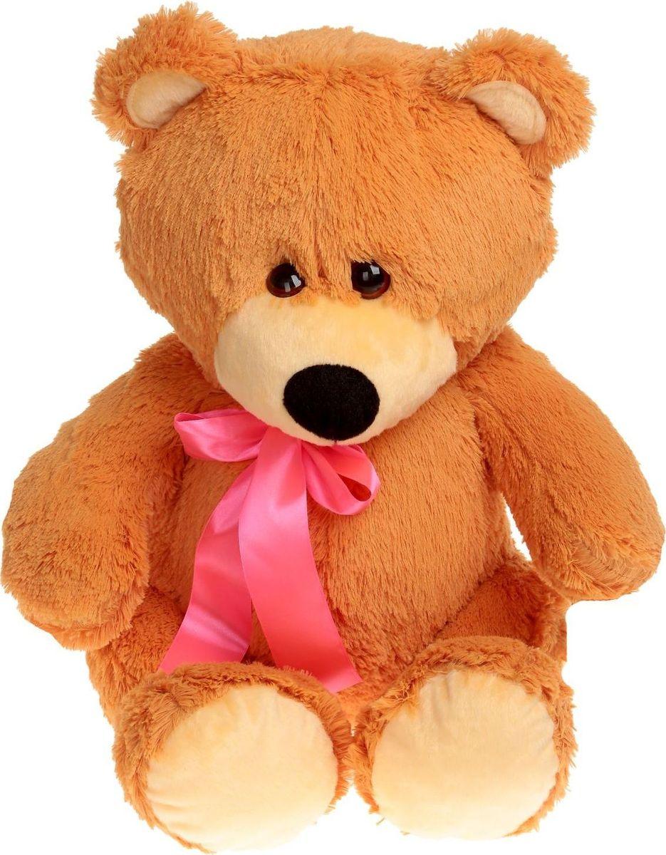 где купить Sima-land Мягкая игрушка Мишутка цвет карамельный 50 см по лучшей цене