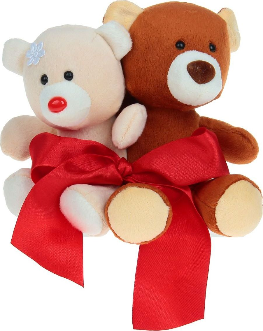 Sima-land Мягкая игрушка Медвежата с бантиком 14 см для ванны guam гель для душа bagniodoccia talasso объем 200 мл