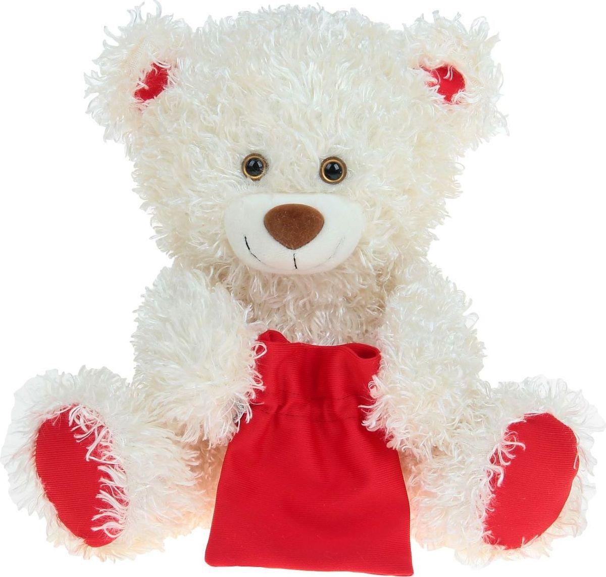Sima-land Мягкая игрушка Медведь праздничный цвет молочный 50 см кармашки на стену sima land люблю школу цвет красный желтый коричневый 5 шт