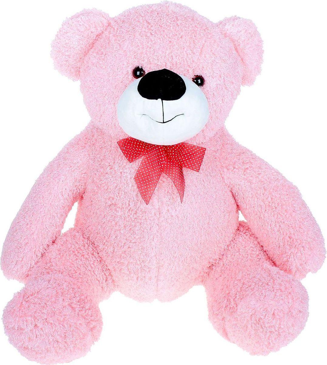 Sima-land Мягкая игрушка Медведь кудрявый цвет розовый 80 см, Тутси