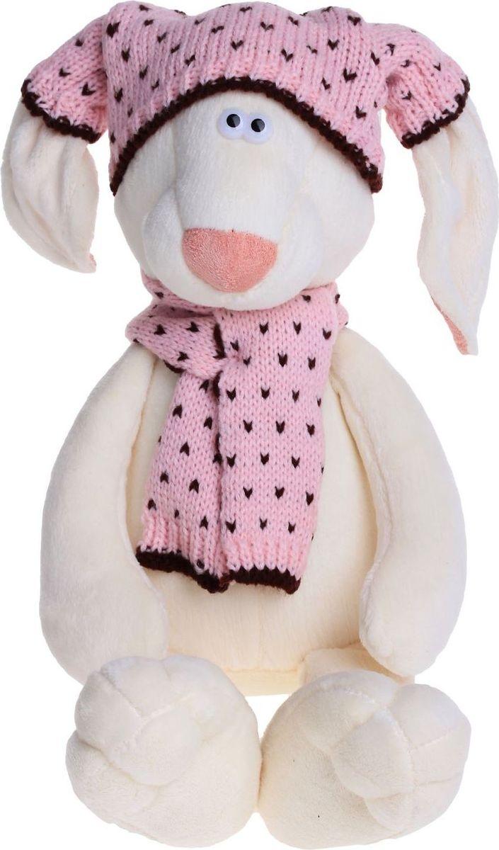 Orange Toys Мягкая игрушка Зайка Маша в шапке 25 см малышарики мягкая игрушка собака бассет хаунд 23 см
