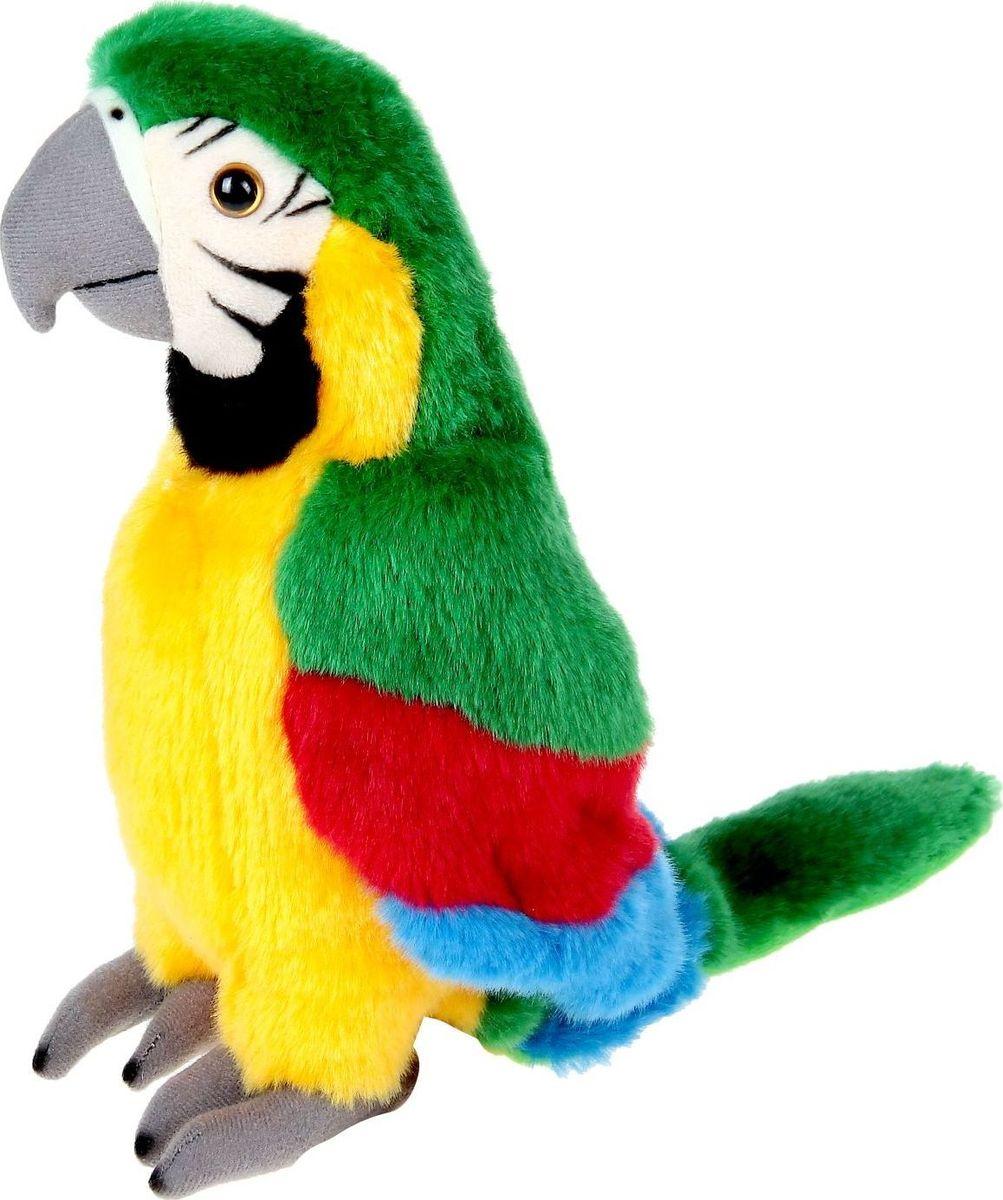 Sima-land Мягкая игрушка Зеленый попугай 23 см