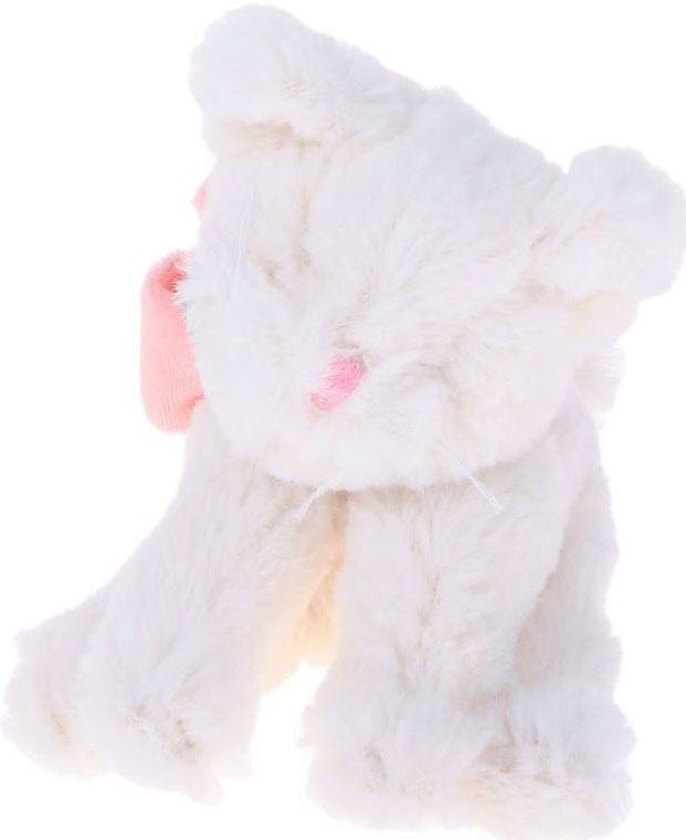 Lapkin Мягкая игрушка Кот Lapkin цвет белый розовый 15 см мягкая игрушка кот серый 40см