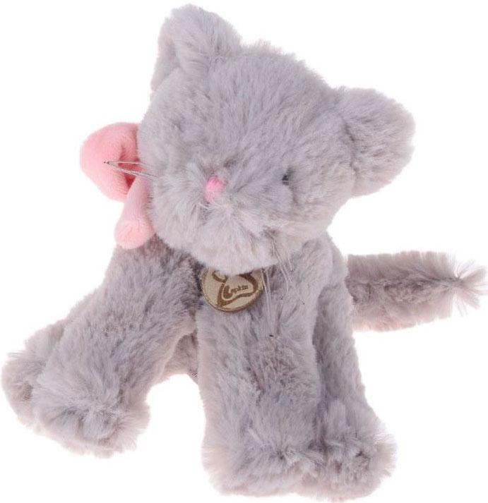 Lapkin Мягкая игрушка Кот Lapkin цвет серый розовый 15 см мягкая игрушка кот серый 40см