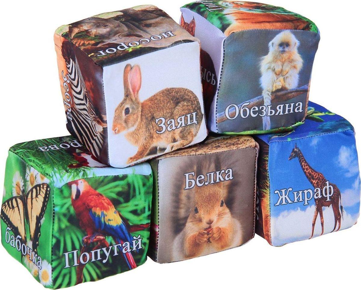 Sima-land Антистрессовая игрушка Кубики Животные 5 шт развивающие деревянные игрушки кубики животные