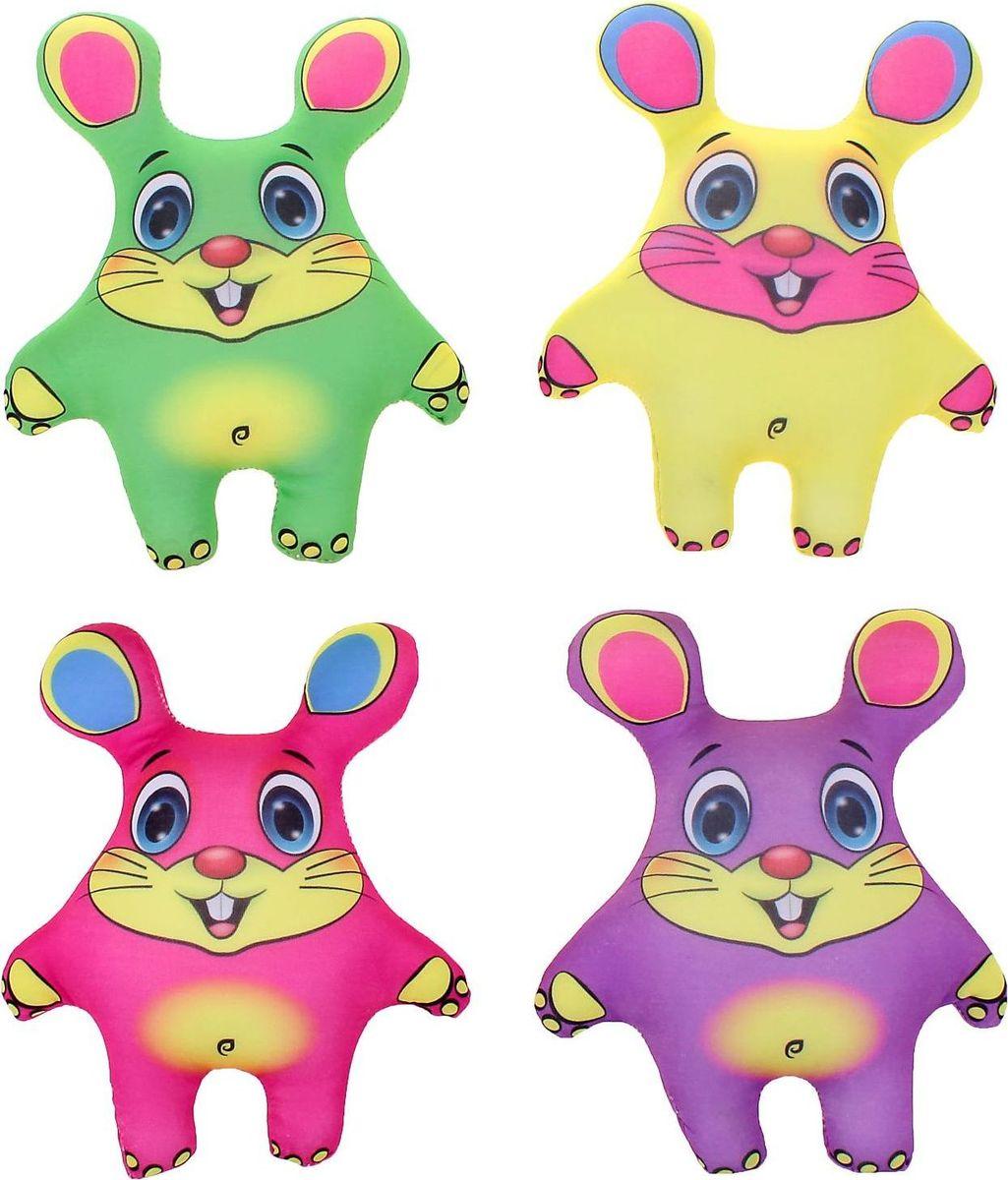 Sima-land Антистрессовая игрушка Мыши цветные 4 шт sima land антистрессовая игрушка заяц хрустик 05 цвет красный