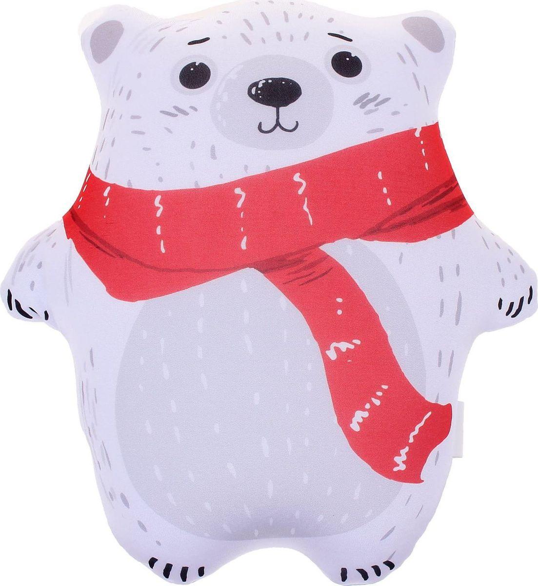 Sima-land Антистрессовая игрушка Мишка-топтыжка цвет белый кармашки на стену для бани sima land банные мелочи цвет белый 3 шт