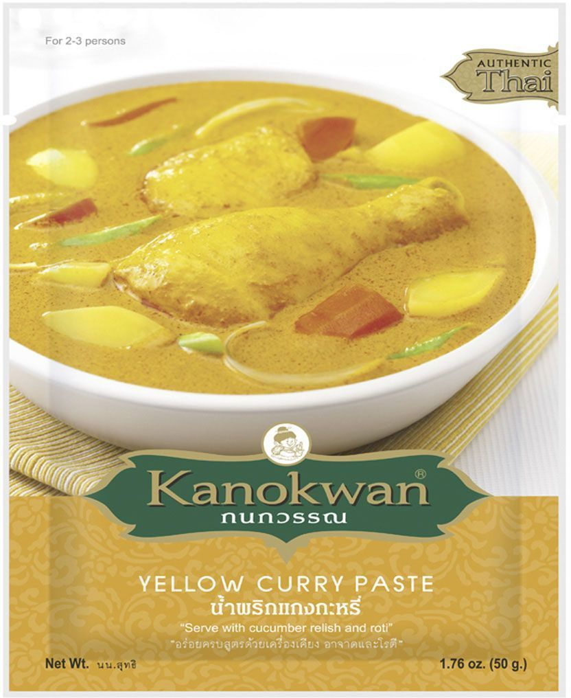 Kanokwan Основа для желтого карри, 50 г kanokwan основа для карри пинанг 50 г