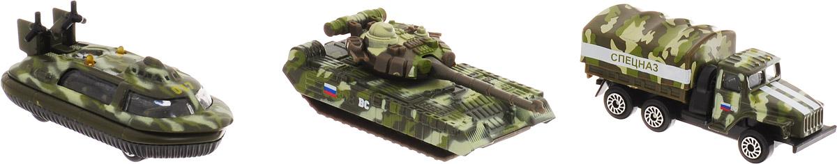 ТехноПарк Набор машинок Военная техника 3 шт SB-14-12