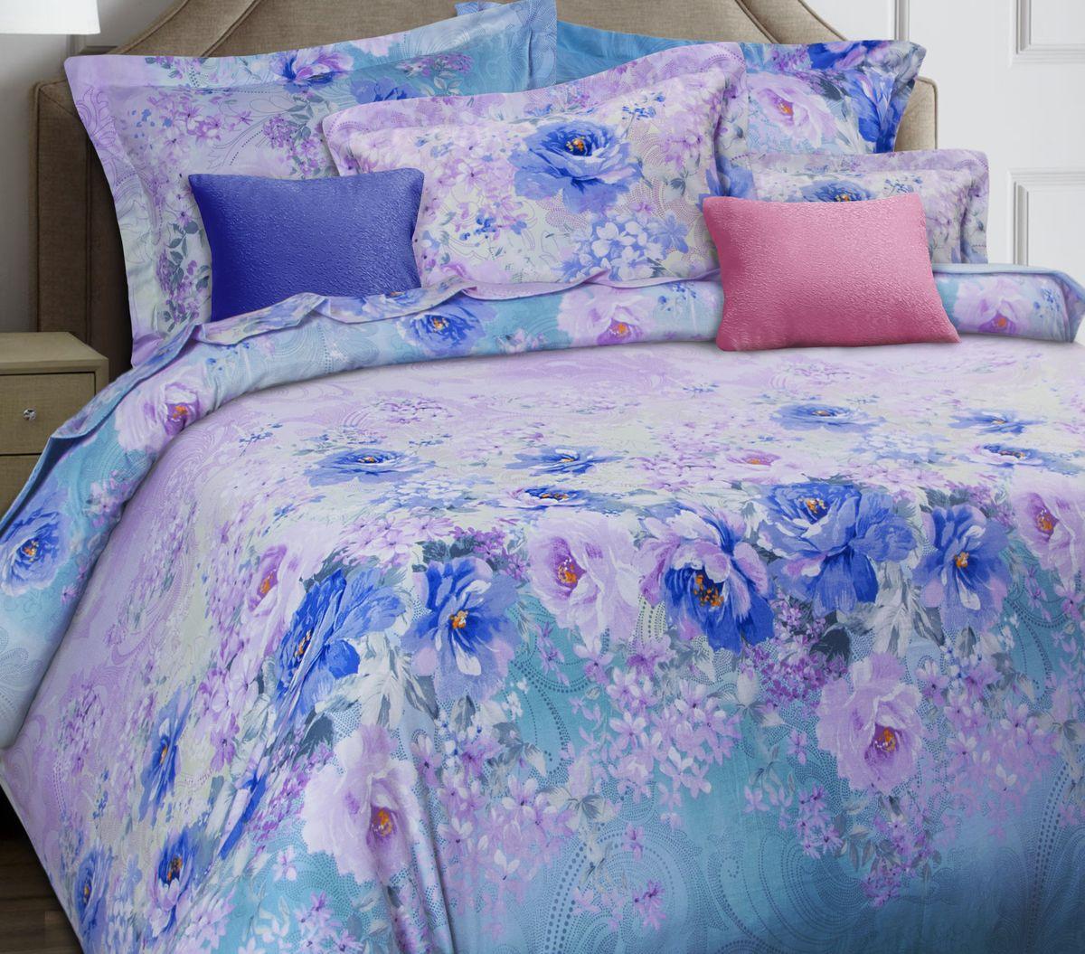 Комплект белья Mona Liza Premium. Hypnosis, 2-спальный, наволочки 50х70, 70х705044/011Комплект постельного белья Mona Liza выполнен из сатина (100% хлопок), состоит из пододеяльника, простыни и четырех наволочек. Изделия оформлены цветочным принтом и декоративной отделкой.Такой изящный комплект, упакованный в чемоданчик, подойдет для любого стилевого и цветового решения интерьера, а также создаст в доме уют.
