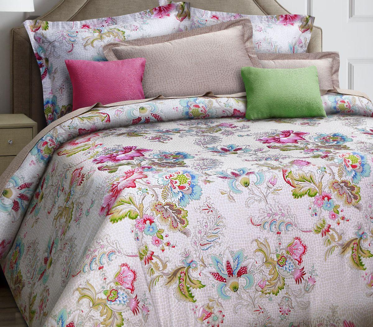 Комплект белья Mona Liza Premium. Romance, 1.5-спальный, наволочки 70х705047/015Комплект постельного белья Mona Liza выполнен из сатина (100% хлопок), состоит из пододеяльника, простыни и двух наволочек. Изделия оформлены цветочным принтом и декоративной отделкой.Такой изящный комплект, упакованный в чемоданчик, подойдет для любого стилевого и цветового решения интерьера, а также создаст в доме уют.