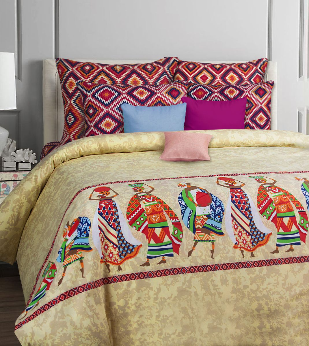 Комплект белья Mona Liza Classik. Afrika, 1,5-спальный, наволочки 50х70 комплект белья mona liza classik malta евро кпб бязь наволочки 50х70