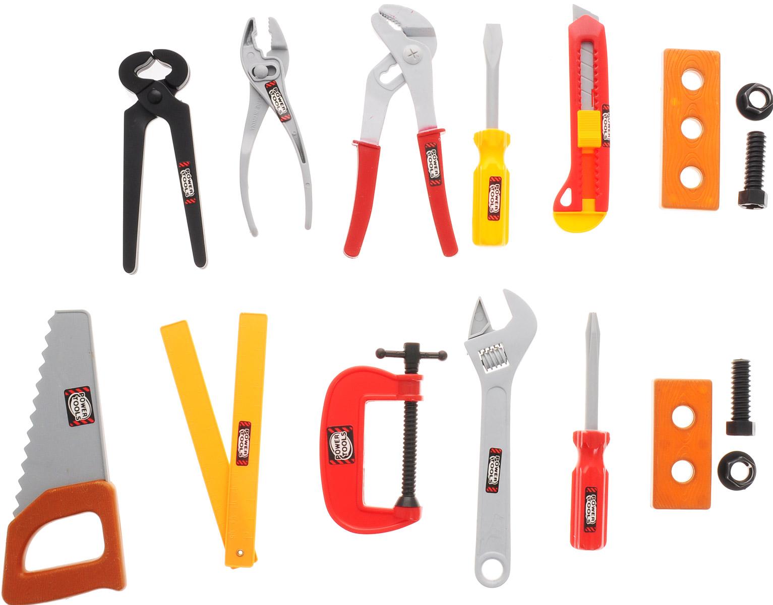 1TOY Игрушечный набор инструментов Профи мастер 11 предметов набор инструментов 1toy пингвинёнок пороро 7 пр