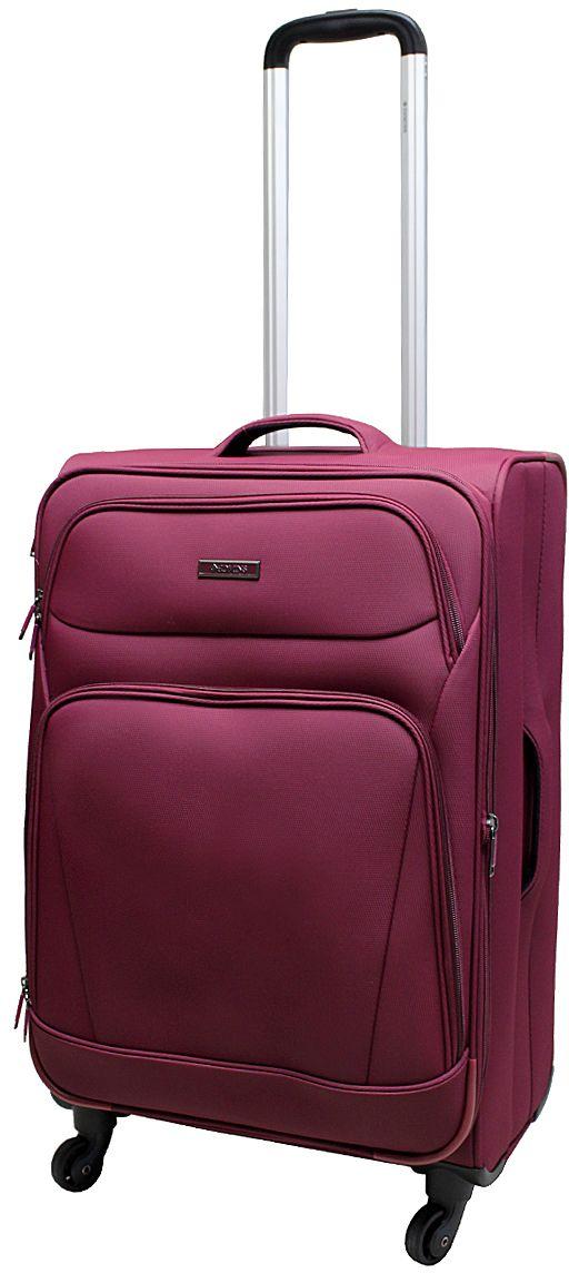 Чемодан Edmins, цвет: бордовый, 85 л. 362 CT 740*2362 CT 740*2Суперлегкий чемодан Edmins 362 СТ изготовлен из плотного полиэстера. Ткань легко чистится, проста в уходе, выдерживает температурные перепады. Чемодан имеет одно основное отделение для хранения одежды и аксессуаров, которое закрывается на застежку-молнию. Внутри имеются поперечные прижимные ремни для фиксации вещей и боковой карман на молнии для мелочей. На крышке чемодана - сетчатое отделение на молнии. Внутренняя поверхность изделия отделана атласным полиэстером. С лицевой стороны содержатся два дополнительных кармана на молнии. Имеется встроенная адресная бирка, расположенная на задней стенке чемодана.Чемодан оснащен выдвижной алюминиевой ручкой с кнопкой-фиксатором. Четыре колеса вращаются на 360°, что обеспечивает маневренность и плавность хода. Боковая поверхность оснащена 4 пластиковыми вставками для предотвращения загрязнений. Для переноски в руке предусмотрены 2 ручки, одна из которых боковая. Чемодан имеет кодовый замок. Предварительно установленная комбинация открытия - 000. Вы можете заменить ее на другую, следуя инструкции. В комплекте мешок для обуви. Стильный чемодан Edmins вместит все необходимые вещи и станет незаменимым аксессуаром для поездок.Нагрузка: 20 кг. Высота выдвижной ручки: 60 см.