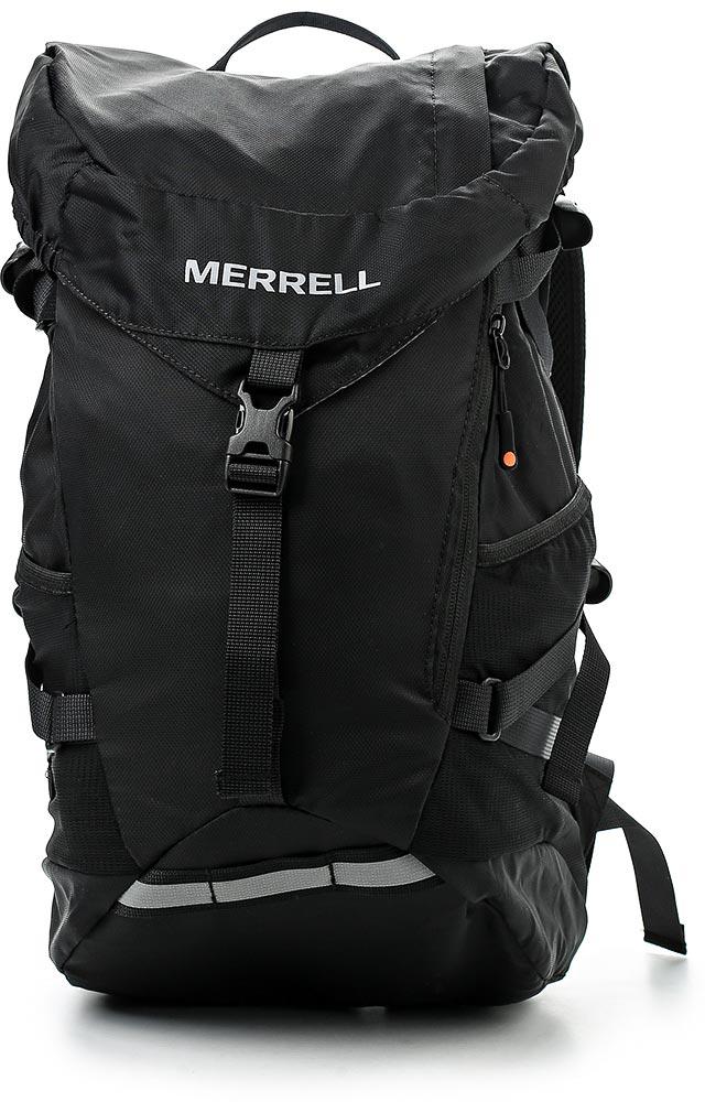 Рюкзак для походов Merrell Razer 2.0, цвет: черный. JBS24055JBS24055Вместительное основное отделение с шнуровкой и клапаном на удобной застежке.У модели карман на молнии сверху, карман с молнией спереди, боковые ремни, боковые карманы из сетки, крепление для светового маячка, камера для отделения с жидкостью. Дополнительная фиксация нагруднымремнем на удобной застежке.