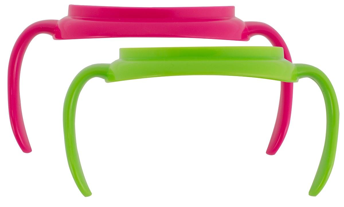 Dr.Brown's Набор ручек для поильников цвет зеленый розовый 2 шт