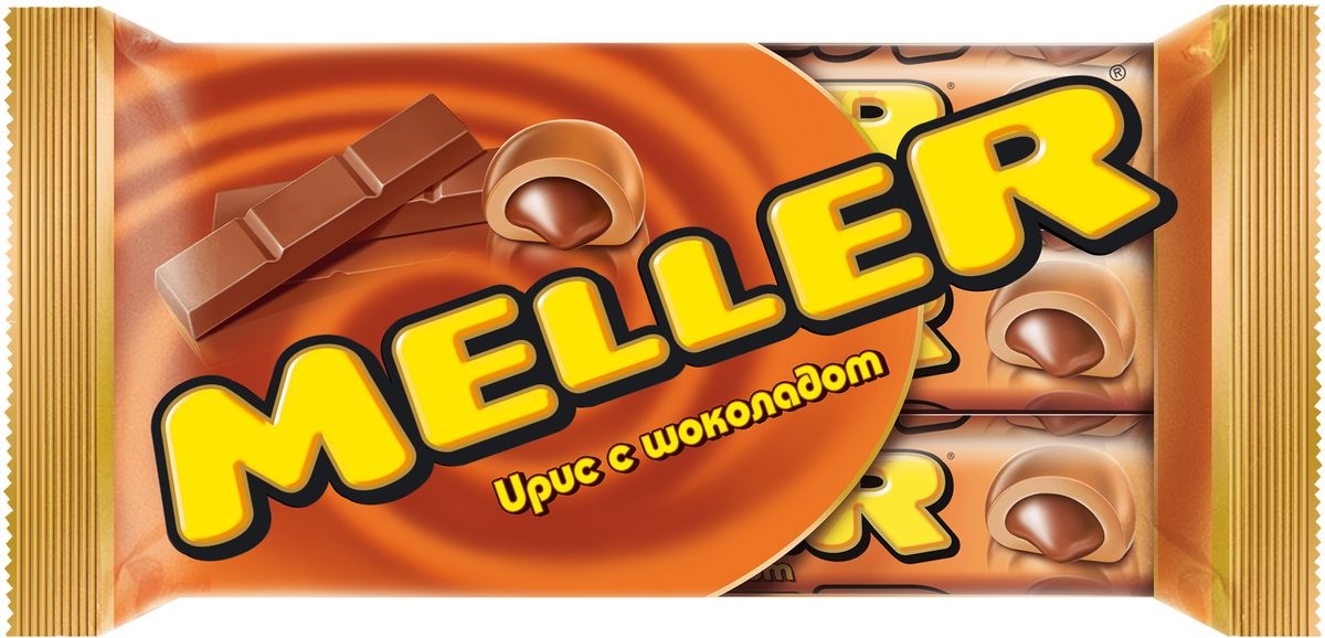 где купить Meller ирис с шоколадом, 3 шт по 38 г по лучшей цене