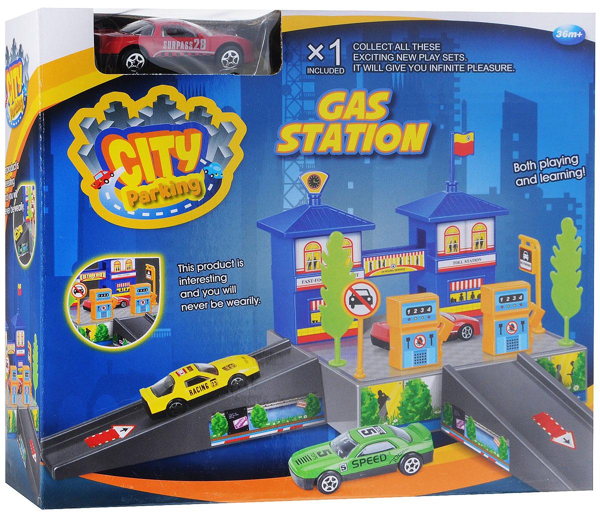 Dave Toy Игровой набор Заправочная станция цвет машины красный игровой набор dave toy заправочная станция с 1 машинкой