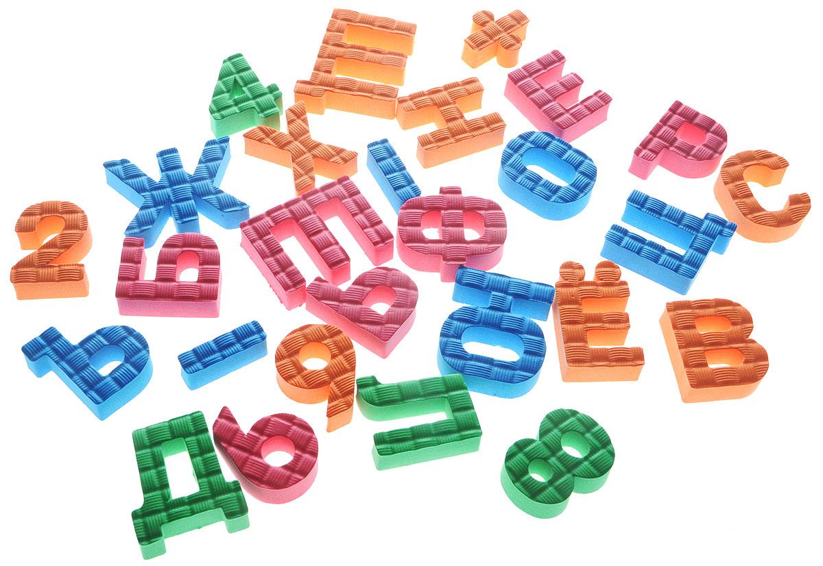 Pic'nMix Набор игрушек для ванной Буквы-цифры цвет оранжевый розовый синий пишем буквы и цифры каллиграфическая пропись