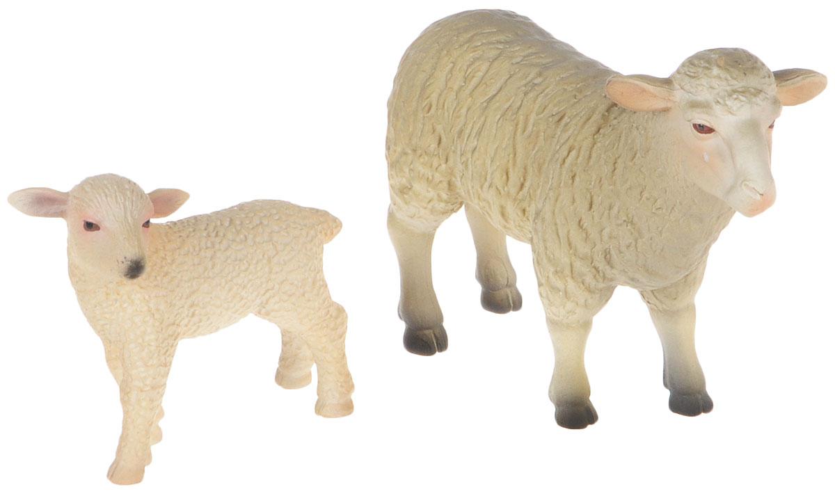Mojo Набор фигурок Овца и ягненок овечка лежащая mojo
