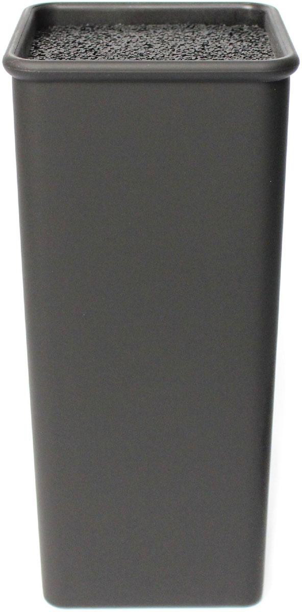 Подставка для ножей Satoshi, квадратная, цвет: черный, 10 x 10 x 22,5 см ножи для кухни лучшие