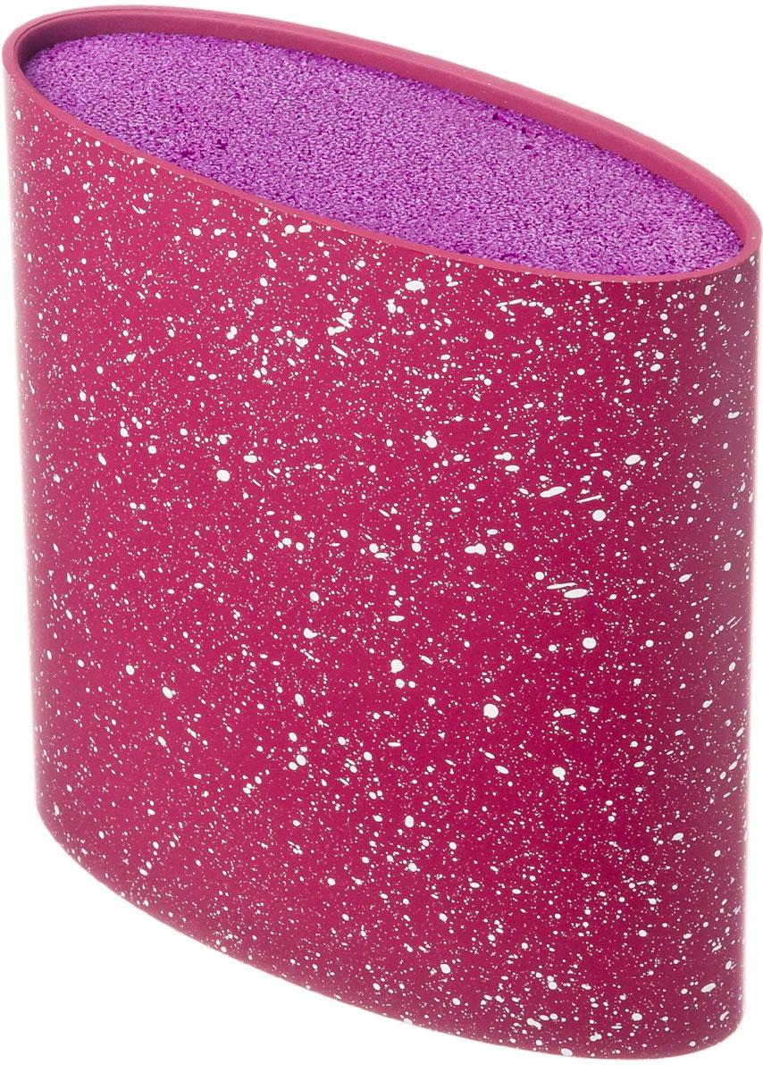 Подставка для ножей Satoshi, овальная, цвет: фиолетовый, 16 х 6,5 х 16 см подставка для ножей nadoba esta деревянная