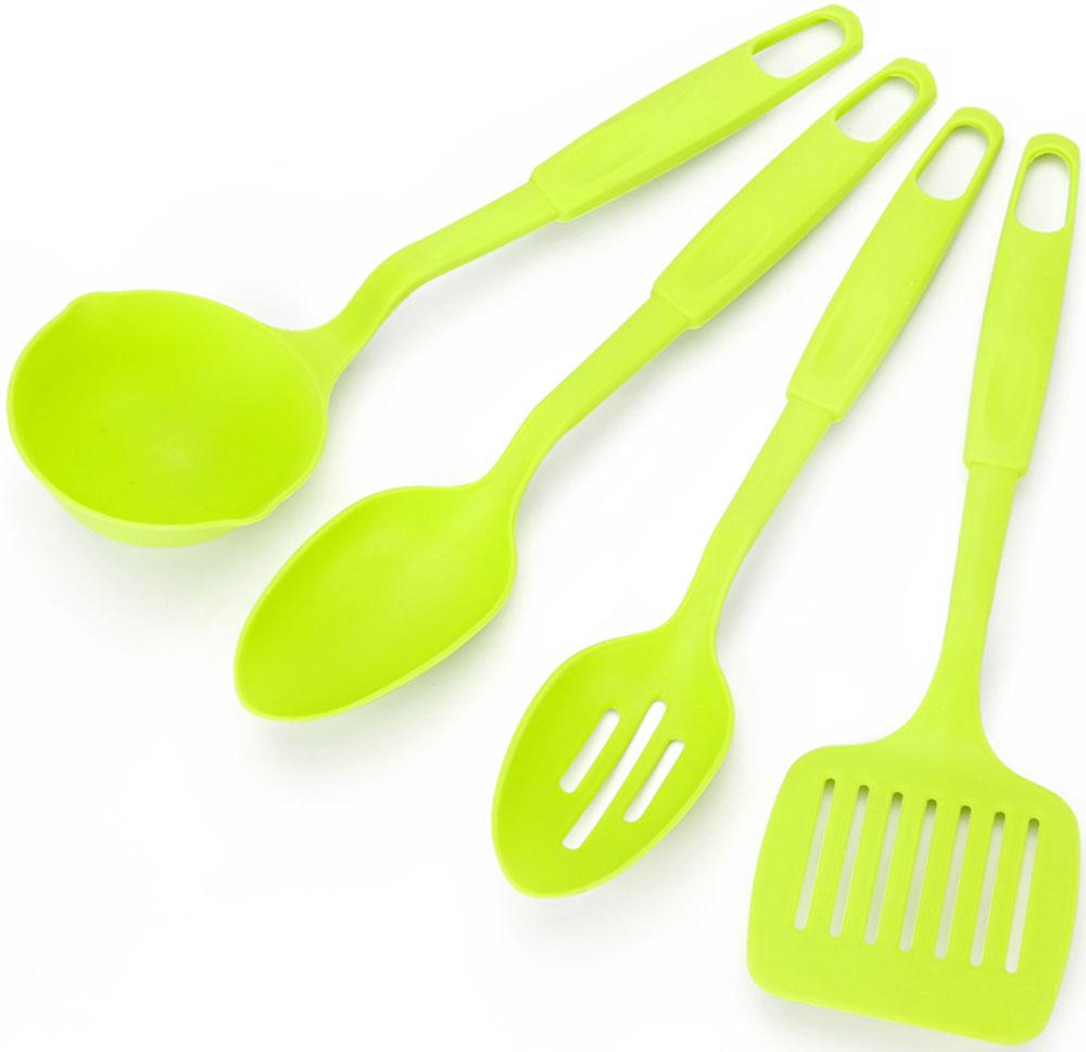 """Набор кухонных аксессуаров """"Vetta"""" состоит из 4 приборов: ложка, лопаточка, половник и шумовка. Набор кухонных аксессуаров изготовлен из термостойкого пластика. Приборы удобны в использовании и станут отличным дополнением вашей кухни!"""