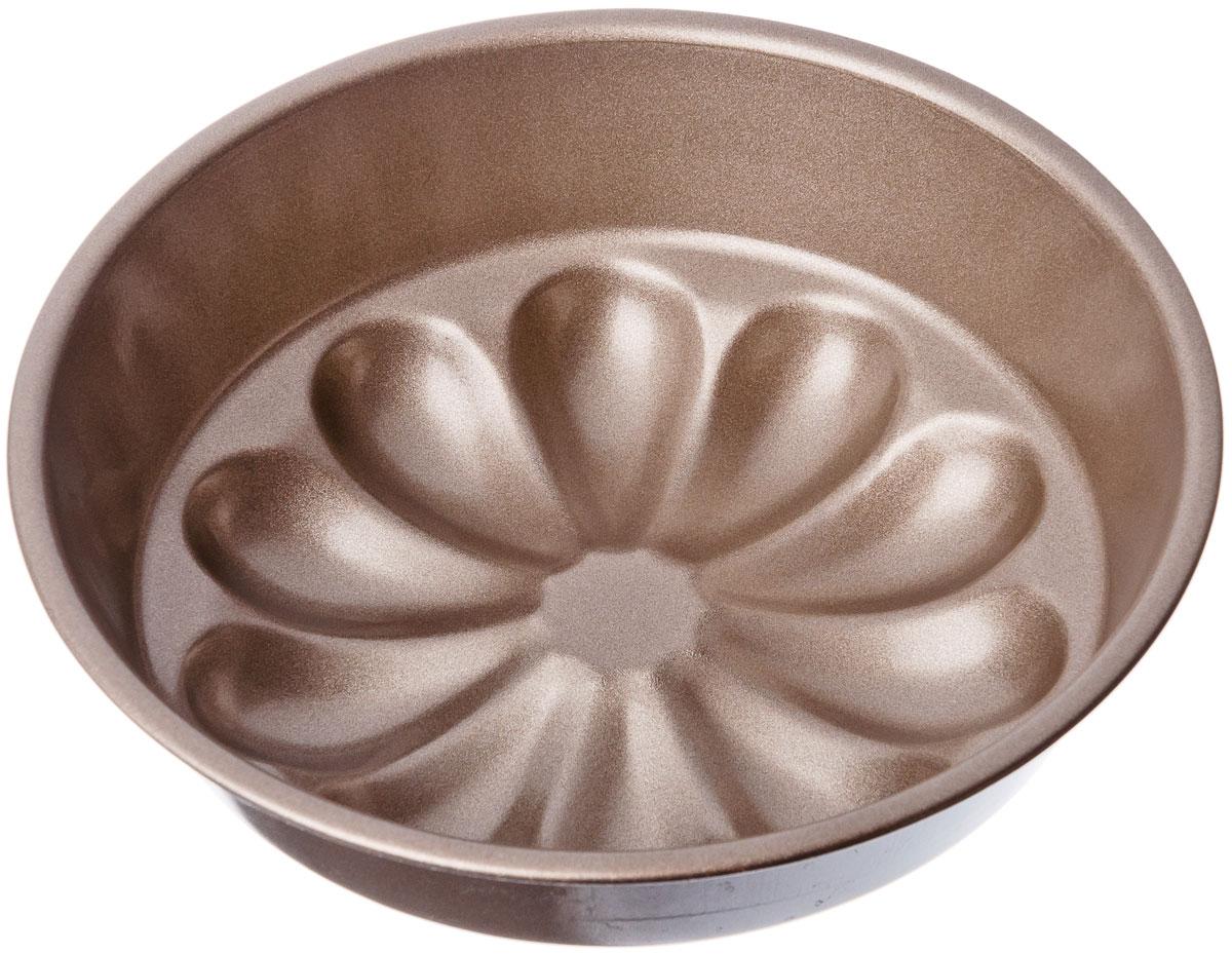 Форма для выпечки Vetta, с антипригарным покрытием, цвет: золото, диаметр 17 см846295Круглая форма для выпечкиVetta, выполненная из высококачественной стали с экологичным безопасным антипригарным покрытием, не содержит PFOA. Блюда не пригорают и не прилипают к стенкам. Такая форма значительно экономит время по сравнению с аналогичными формами для выпечки. С формой для выпечки готовить любимые блюда станет еще проще. Перед первым применением форму вымыть и смазать маслом. Максимальная температура нагрева 250°С.