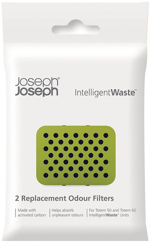 Фильтр для мусорного контейнера Joseph Joseph Totem, 2 шт. 3000530005Сменный карбоновый фильтр для контейнера Joseph Joseph Totem поможет надежно заблокировать неприятные запахи от отходов. Он крепится внутри контейнера на крышку. Рекомендуемый срок использования одного фильтра 6 месяцев.В комплект входит 2 фильтра.
