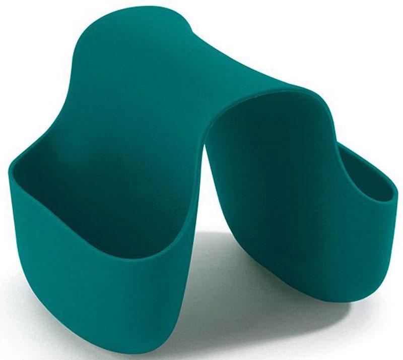 Подставка для кухонных принадлежностей Umbra Saddle, цвет: сине-зеленый, 10,2 х 12,7 х 10,2 см330210-635Гибкий органайзер с двумя кармашками в новом модном цвете. В нем может поместиться что угодно: губки и щётки для мытья посуды, диспенсеры с моющими средствами и прочие небольшие предметы на кухне или в ванной. Не содержит BPA. Можно мыть в посудомоечной машине. Сочетается с другими аксессуарами для кухни в новой цветовой палитре: диспенсером Joey и сушилкой Tub. Дизайнер Ross & Doell