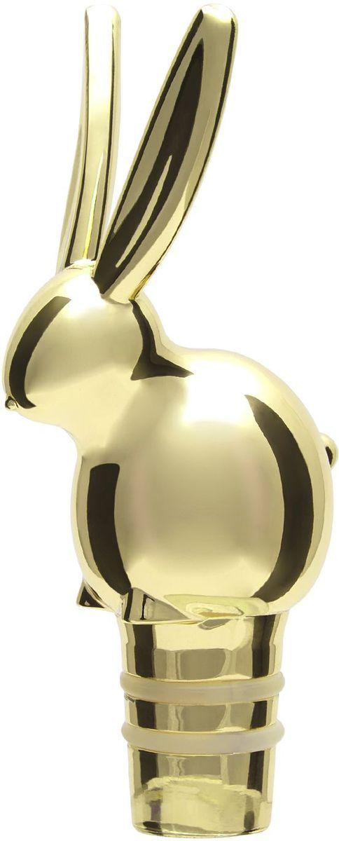 Пробка для бутылки Umbra Menagerie. Кролик, цвет: латунь480351-104Оригинальная пробка для вина сохранит вкусовые качества и аромат напитка на долгое время. Сделанная из хромированного металла, пробка в виде зайца будет смотреться необычно и элегантно. Подходит для бутылок стандартного размера.