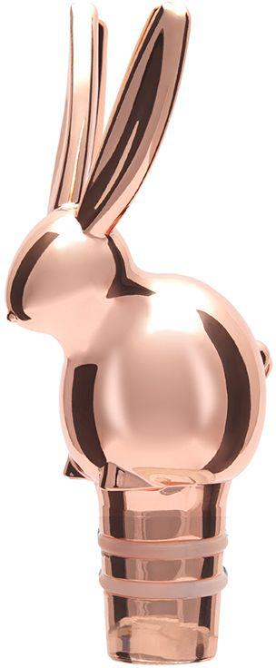 Пробка для бутылки Umbra Menagerie. Кролик, цвет: медь480351-880-X20Оригинальная пробка для вина сохранит вкусовые качества и аромат напитка на долгое время. Сделанная из хромированного металла, пробка в виде зайца будет смотреться необычно и элегантно. Подходит для бутылок стандартного размера.