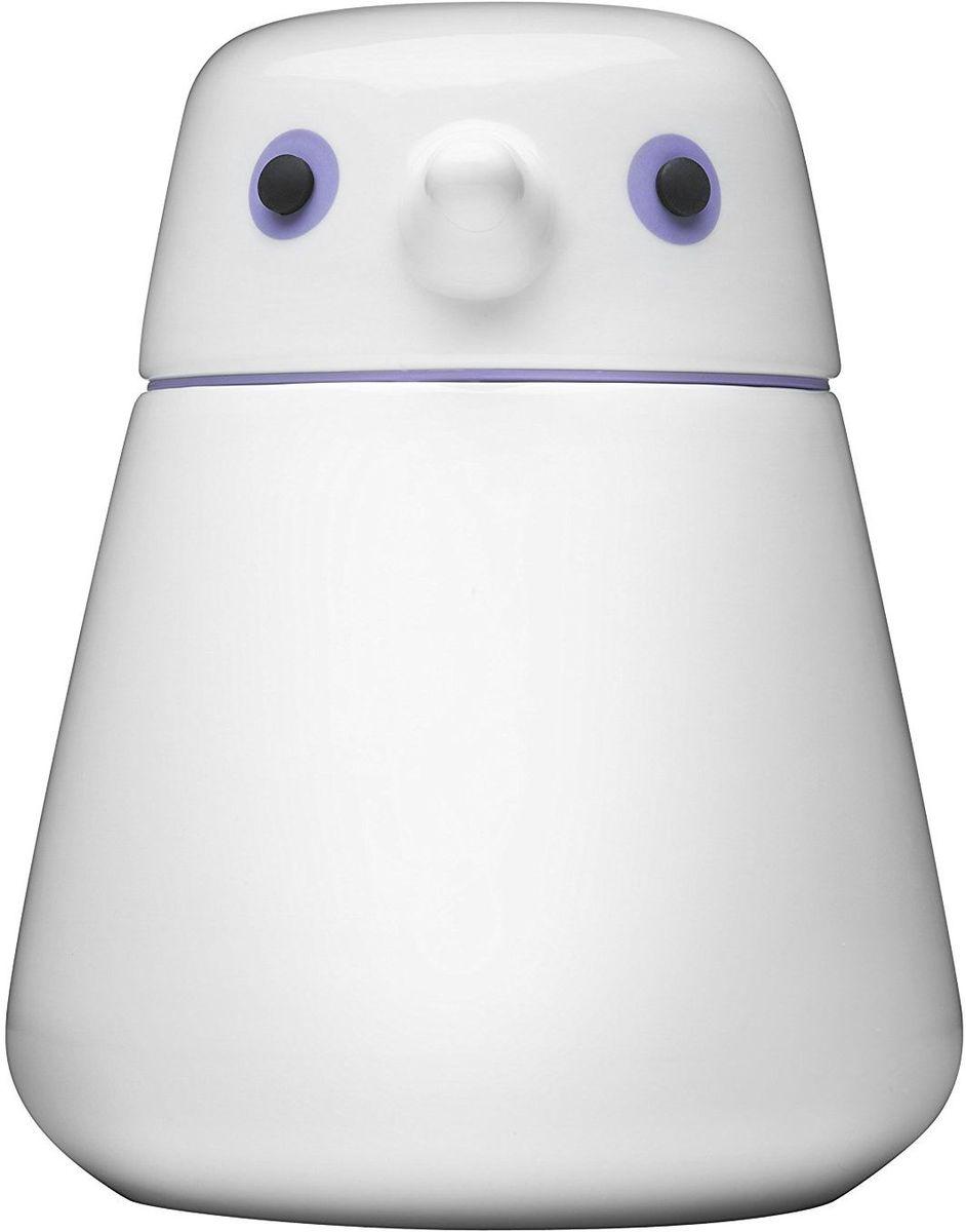 Емкость для хранения QDO Birdie, цвет: фиолетовый, 1 л567308Фарфоровая емкость QDO Birdie подходит для хранения кофейных зерен, рассыпчатого листового чая, сахара и любых других продуктов.Емкость характеризуется сдержанным и продуманным дизайном в форме птички, в котором каждая деталь несет в себе определенную функцию. Например, клюв используется как ручка для крышки, а широкое основание гарантирует устойчивость и комфортное мытье. Особой ролью наделены подвижные глаза птички. Если нажать на них, то контейнер станет абсолютно герметичным, что необходимо для сохранения вкуса и аромата некоторых сортов кофе и чая. Если немного выдвинуть глаза вперед, емкость начнет пропускать воздух, что благоприятно при хранении ферментированных продуктов, как например, чай пуэр.Объем емкости: 1 л.Можно мыть в посудомоечной машине.