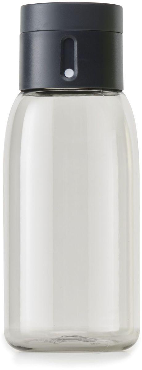 Бутылка для воды Joseph Joseph Dot, цвет: серый, 400 мл81054Бутылка для воды Joseph Joseph Dot- уникальная бутылка, которая поможет вам контролировать ежедневное потребление воды. Инновационная крышка со счетчиком запомнит каждое наполнение бутылки в течение дня. Просто закрутите крышку до появления точки, а для питья используйте верхнюю крышку. Новая точка появится каждый раз, когда бутылка заново заполнена и крышка закручена. Из гладкого литого носика бутылки удобно пить, а широкое горлышко идеально для насыпания льда и мытья. Герметичная крышка надежно защитит содержимое от вытекания. Бутылка изготовлена из экологичного и ударопрочного материала Tritan.Объем - 400 мл.
